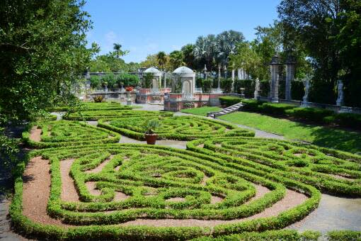 On the grounds of Vizcaya Museum and Gardens, you'll enjoy spectacular views of Biscayne Bay, colorful orchids in the David A. Klein Orchidarium, serene gardens and classic statues.