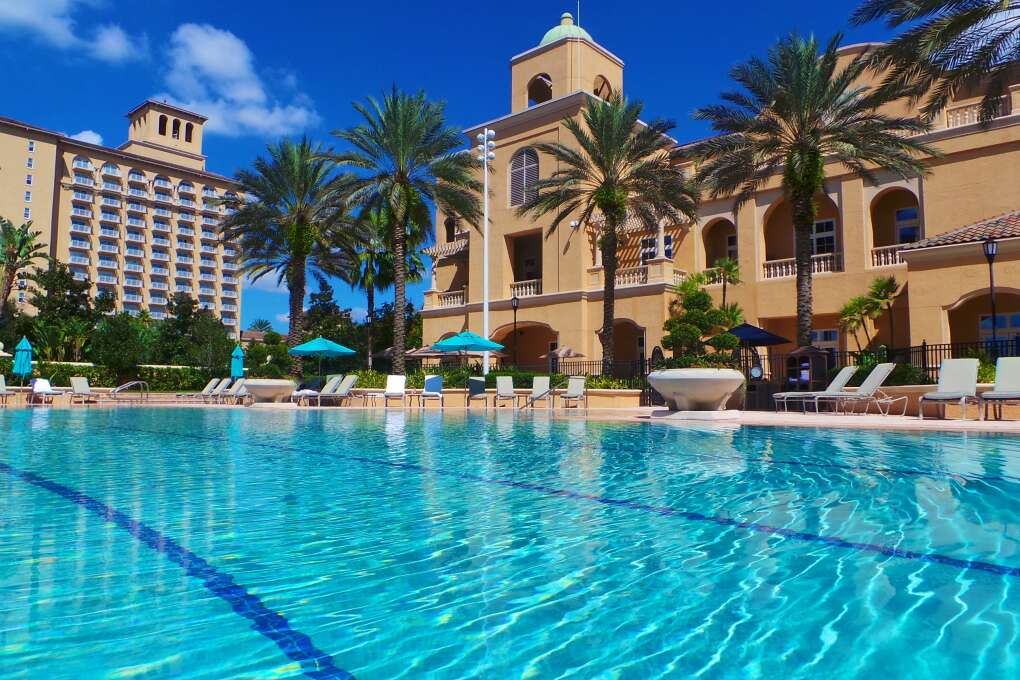 Poolside view of the Ritz-Carlton