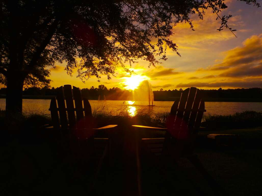 The sunset from Grande Lakes, Orlando, Florida