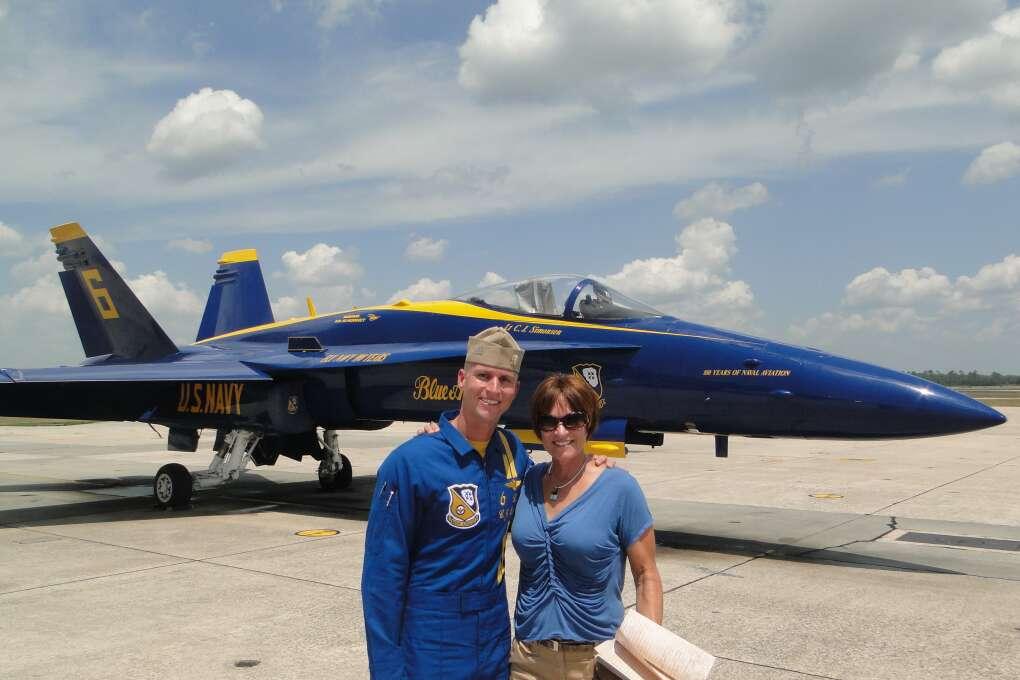 Blue Angels Pilot Posing in Pensacola