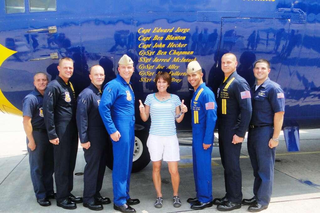 Fat Albert of the Blue angels air show crew