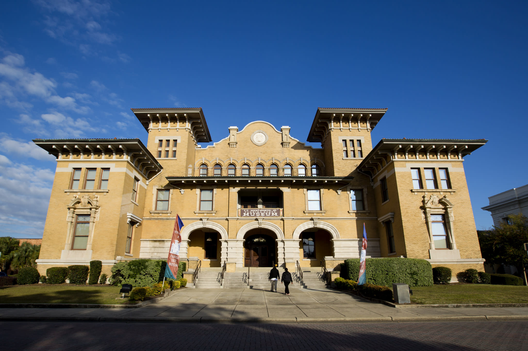 The tour starts at the three-story T.T. Wentworth Jr. Florida State Museum, in the former City Hall built in 1908.  The quirky collection here includes a 450-year-old anchor and a petrified cat.