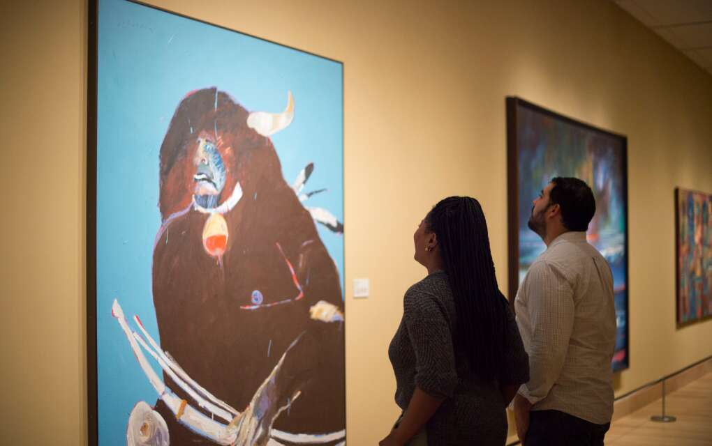 The Native Life Gallery groups works depicting Native American subjects made by non-Native artists.