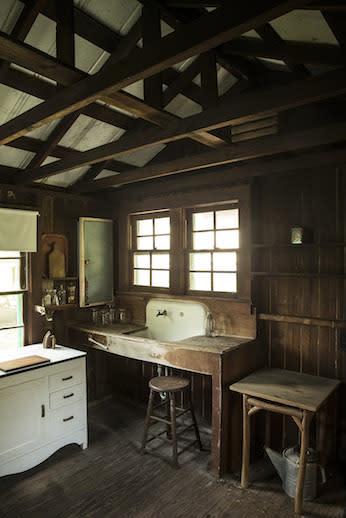 The modest kitchen of Laura Riding Jackson