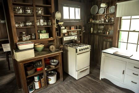 The original kitchen of the Florida Cracker home of Laura Riding Jackson