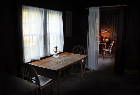 The dining table at the house of the poet Laura Riding Jackson