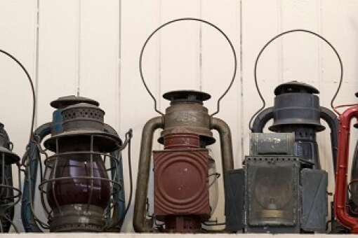 Vintage Oil Lamp at Vero Beach Train Museum