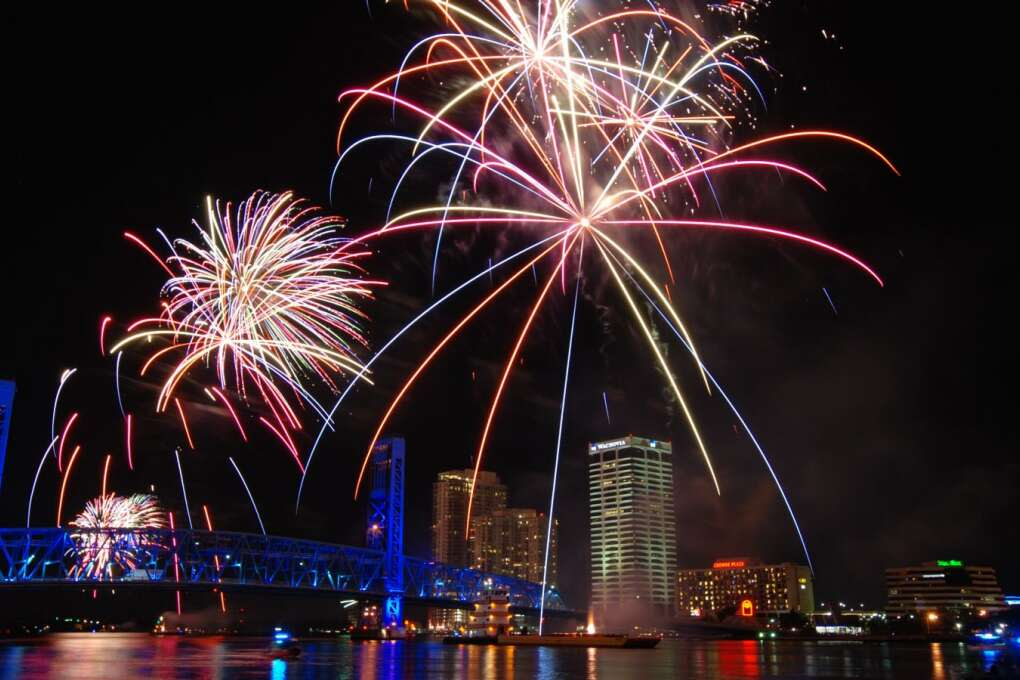 No matter where you are in Florida on the 4th of July, you'll be able to find a great fireworks display – like this one in Jacksonville-- as Americans celebrate the birthday of our nation.