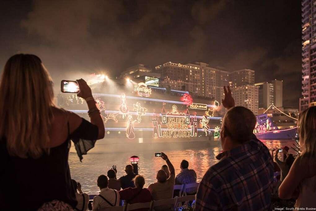 """There are many Florida holiday boat parades, but the Seminole Hard Rock Winterfest Boat Parade, held in Fort Lauderdale and Pompano Beach, is heralded as the """"12 miles of the greatest show on h20."""""""
