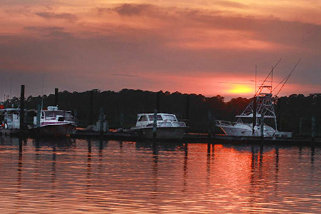 Spectacular sunsets on the Gulf of Mexico are the stars of Steinhatchee, which was one of the first settlements in the state.