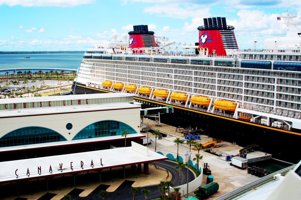 Disney Cruise ship at Port Canaveral cruise port