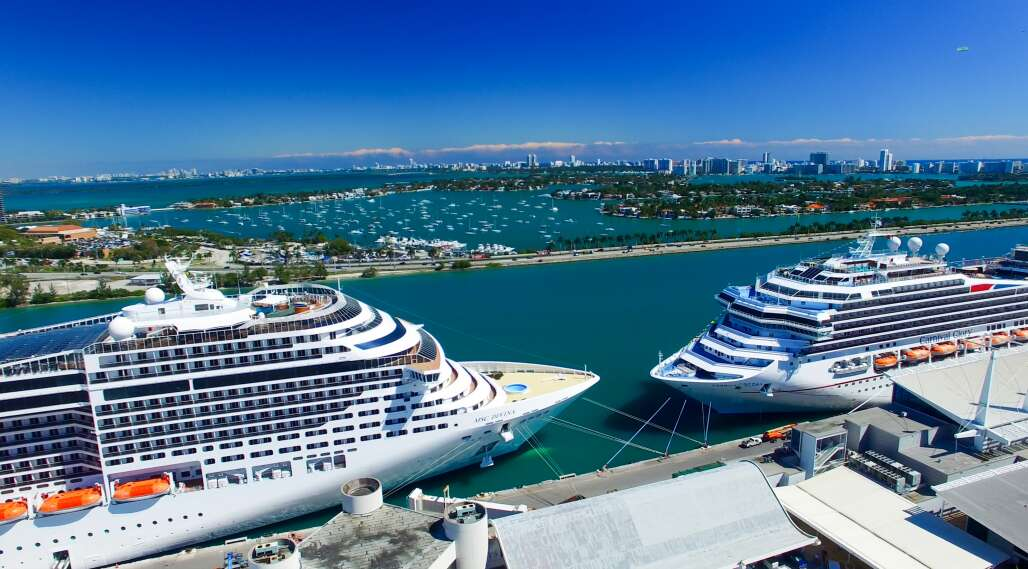two cruise ship at Florida's cruise port