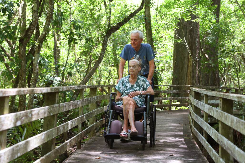 Thelma and Jack Wheeler, of Naples, sometimes visit Audubon's Corkscrew Swamp Sanctuary twice a day and are volunteers at the sanctuary.