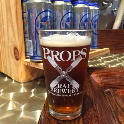 Blonde Bomber Ale at Props Brewery & Grill