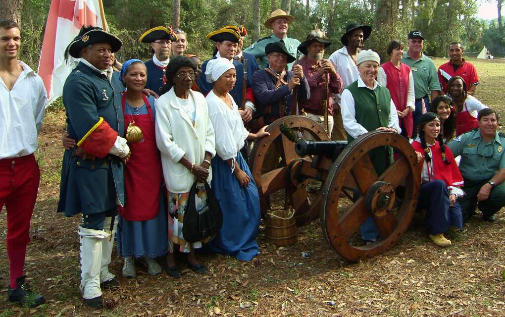 During the annual Flight to Freedom at Fort Mose Historic State Park, re-enactors in period clothing tell the fort's story.