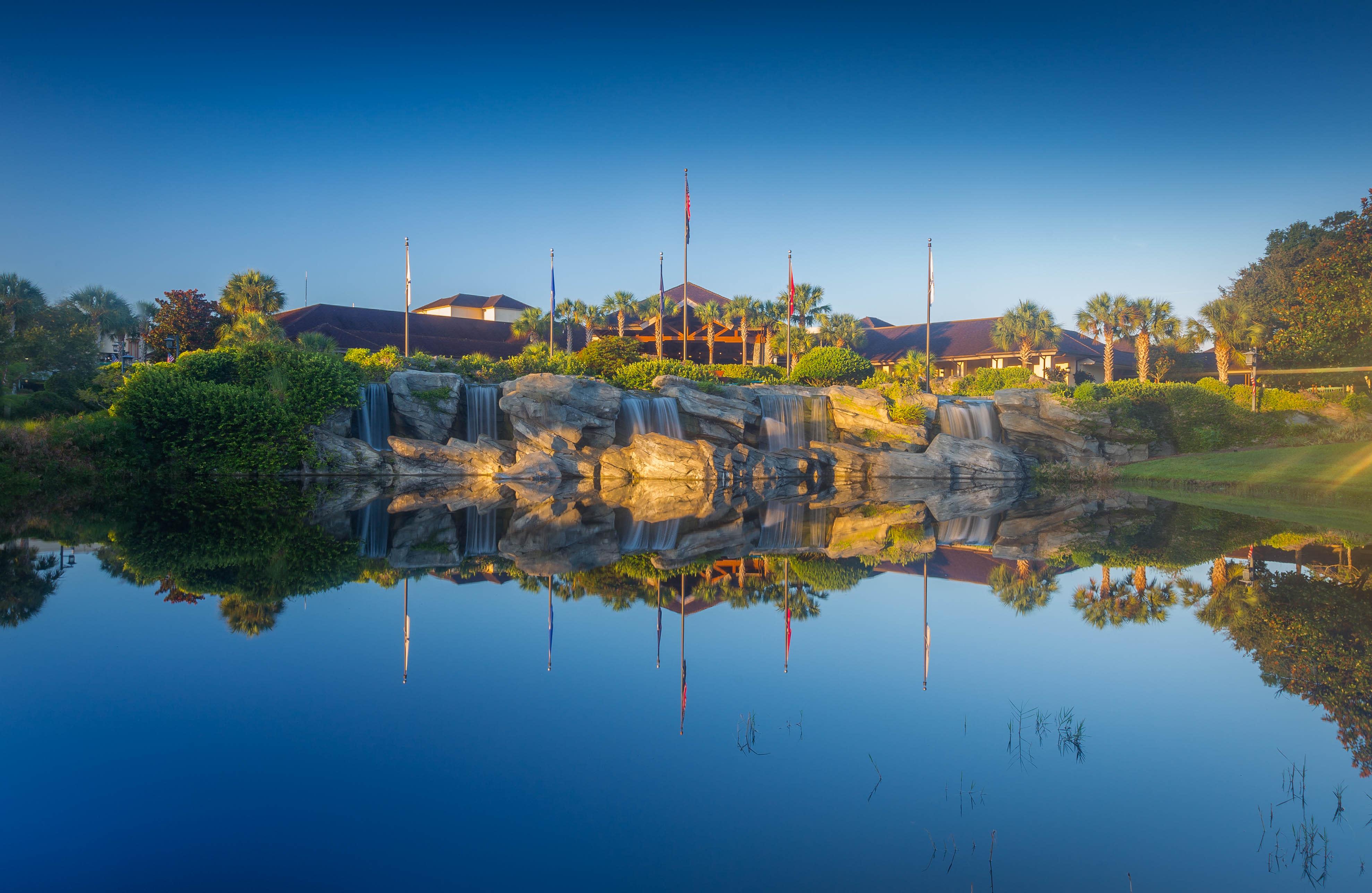 Lake view of Shades of Green Resort