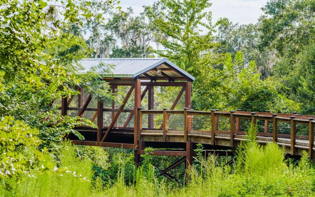 J. R. Alford Greenway, pretty covered bridge
