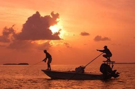 Fishermen at Sunset in the Florida Keys