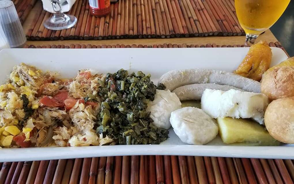 Island Flavors and Tings, plate of food