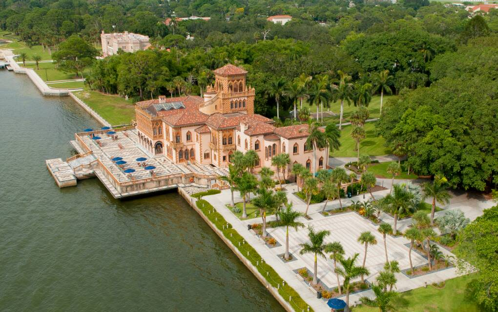 Tour the John and Mable Ringling Museum of Art's magnificent Ca' d'Zan mansion, featured in films including the 1998 film adaptation of Great Expectations, admire the Ringlings' massive art collection, learn some history in the Circus Museum or catch a modern performance in the property's Asolo Theater.