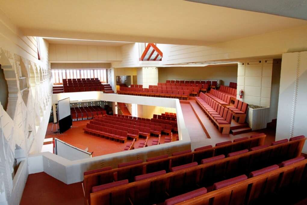 inside of building at Florida Southern College
