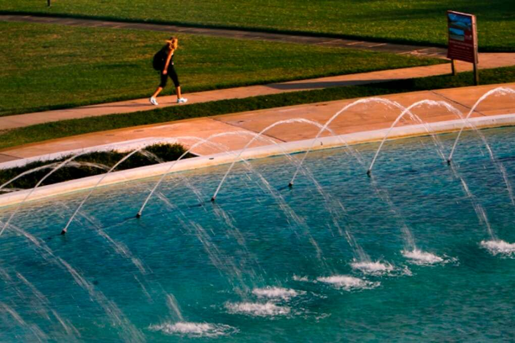water fountain at Florida Southern College