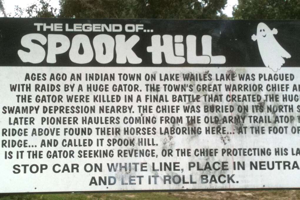 Spook Hill in Lake Wales has mystifed drivers for decades.
