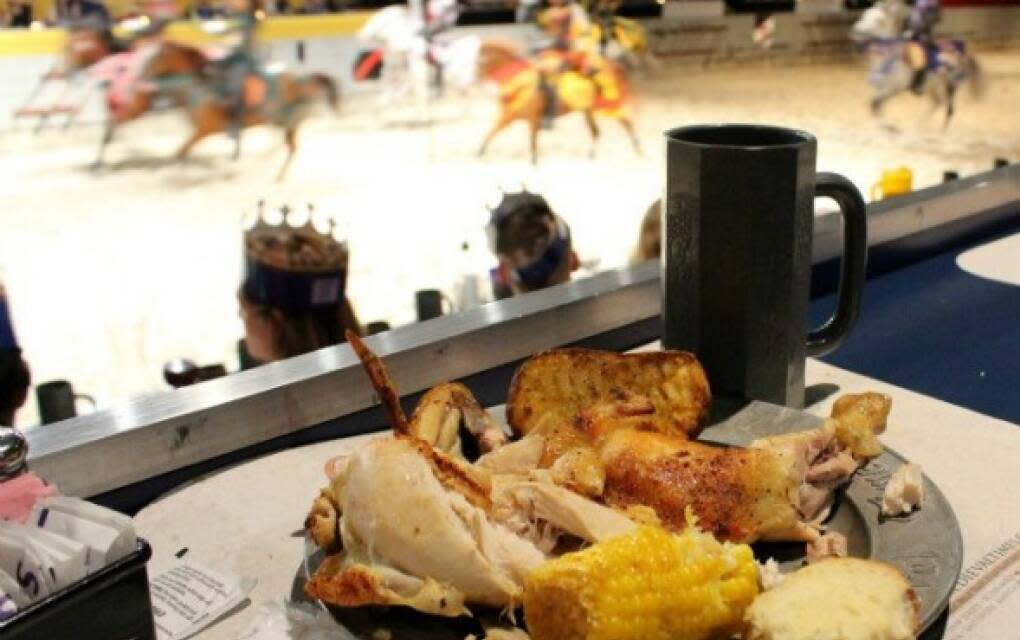 Plate of Food at Medieval Times