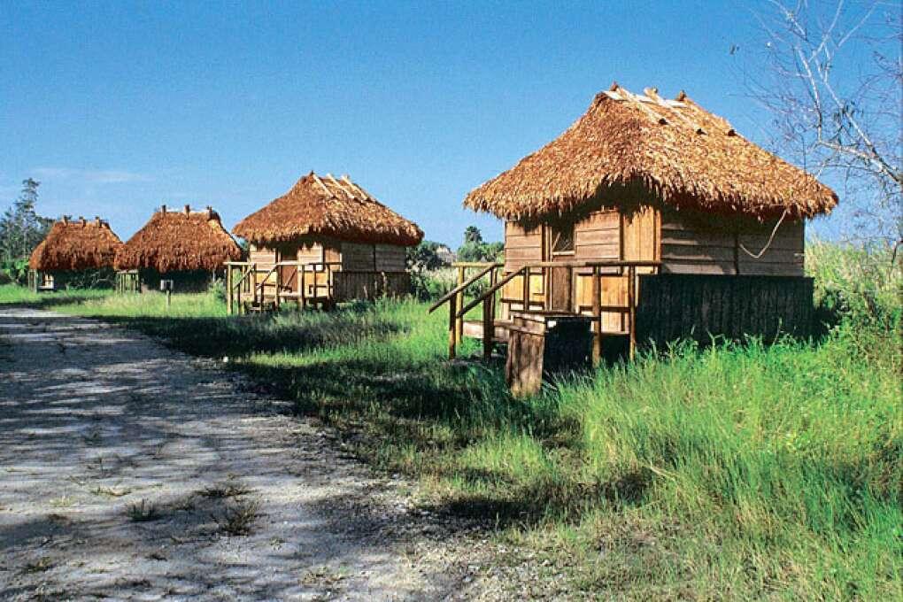 Chickee Huts along Seminole Trail