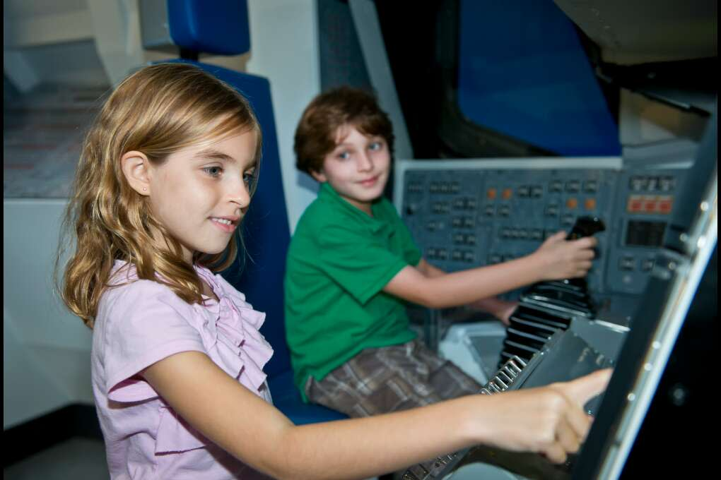 Kids Getting Astronaut Training Experience