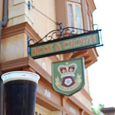 The Rose & Crown Pub at the United Kingdom pavilion at Epcot is full-service bar designed in the spirit of a local English pub.