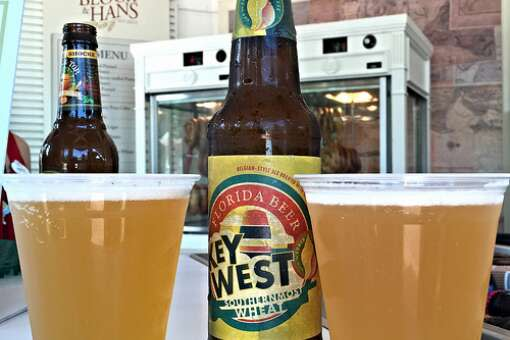 At Block & Hans, guest can find a selection of American craft beers like Key West Southernmost Wheat and Bell's Oberon Ale.