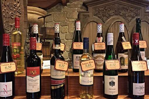 A selection of German wines in the Germany area at Disney World's Epcot