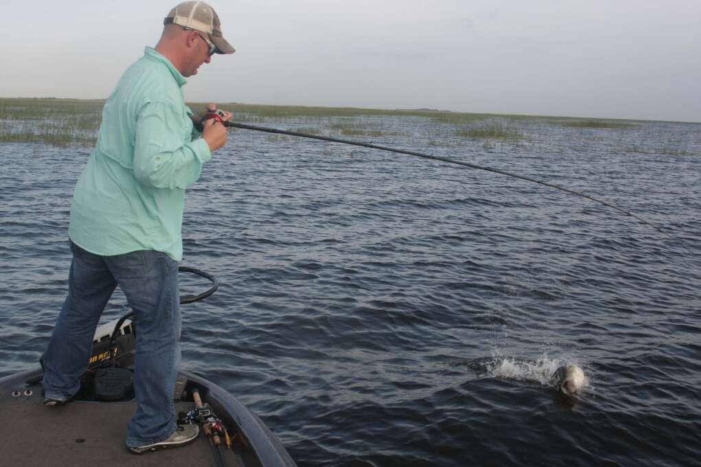 Lake Okeechobee bass fishing with a guide