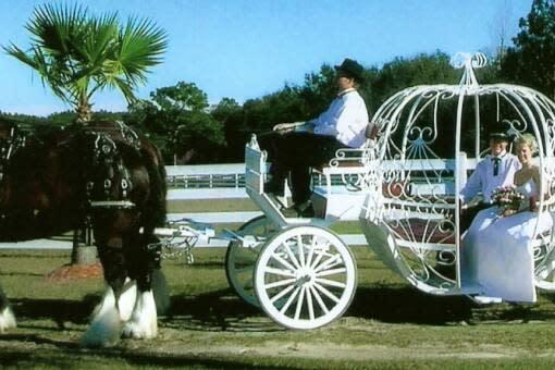 Cinderella coach used by many brides and quinceañeras