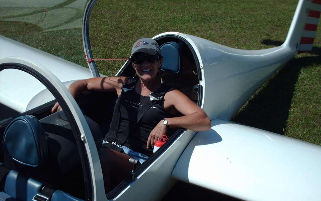 This is me getting ready to enjoy a sailplane flight over Groveland-- something you can do, too.