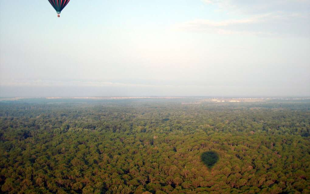 Ballooning is peaceful, and often stunningly beautiful. This was an early morning flight out of Davenport.