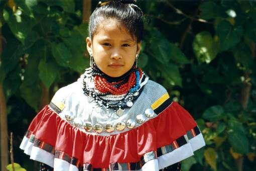 A Seminole girl at Big Cypress Seminole Reservation