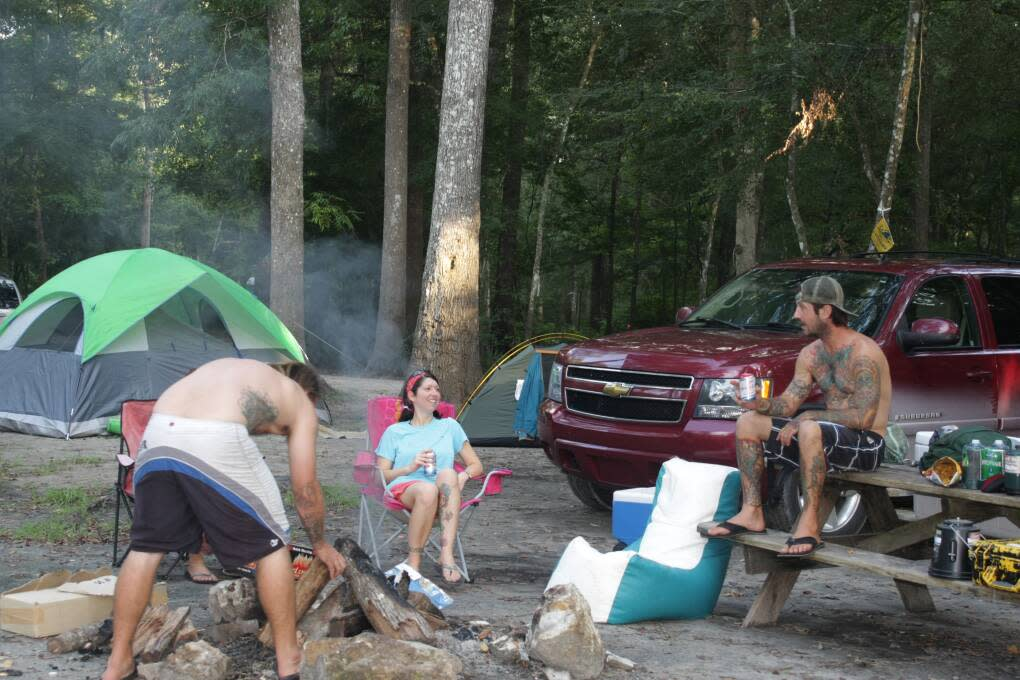 people camping at Ginnie Springs