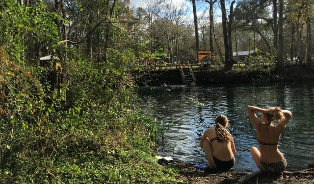two girl by the lake in Ginnie Springs