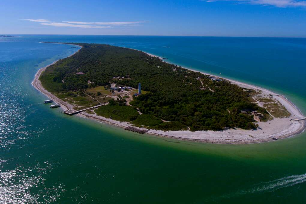 The Egmont Key Lighthouse near St. Petersburg, Fla., has guided thousands of sailors back to the safety of their homes, but people with a sense of adventure could almost say it serves the opposite purpose.