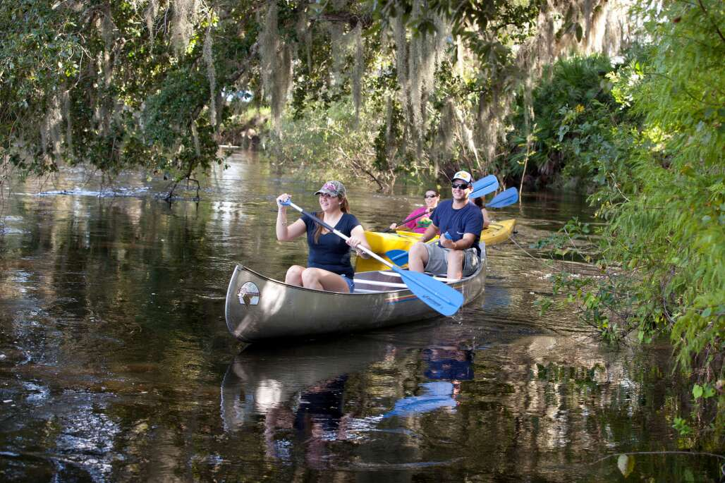 Enjoy a slice of real Florida by canoe, kayak or boat on the Peace River Paddling Trail, a serene trek from Bartow to Arcadia.