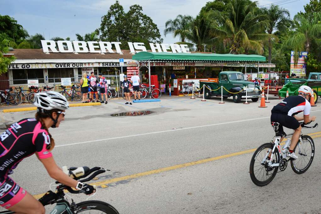 The Robert Is Here fruit market is located just east of Everglades National Park and just west of Florida City.