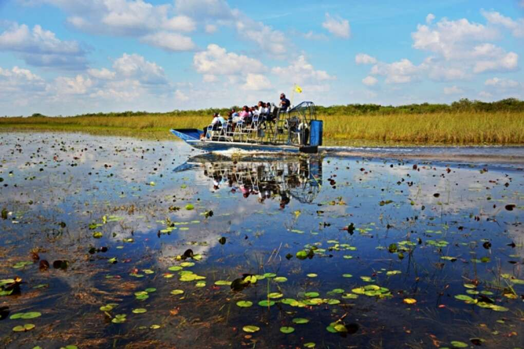 John Tigertail organiza tours en hidrodeslizador por los Everglades