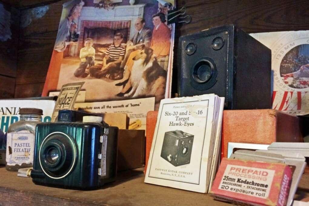 cameras and old books at ted smallwood store everglades