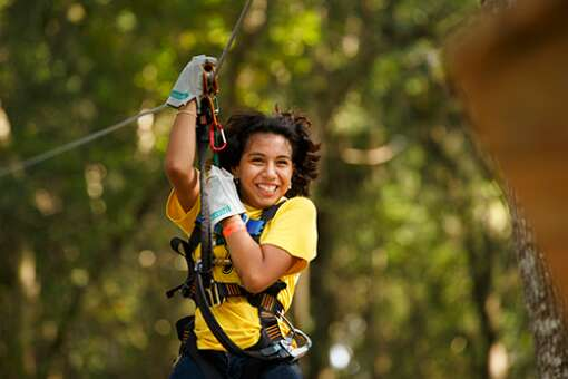 There are challenges for all ages at TreeHoppers Aerial Adventure Park in Dade City, even kids 5 years old.