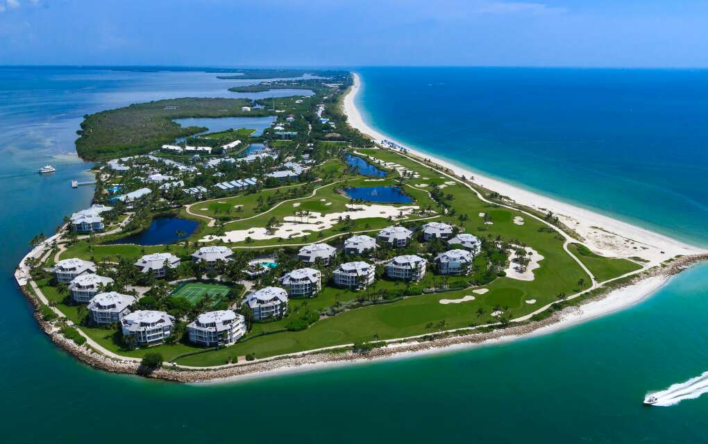 2.5 miles of exclusive beach on the tip of Captiva Island - just north of Sanibel Island in Southwest Florida