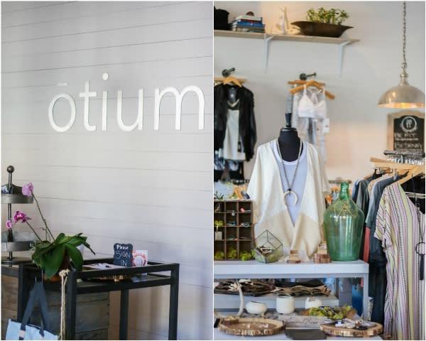 The store at the Otium fitness and wellness studio