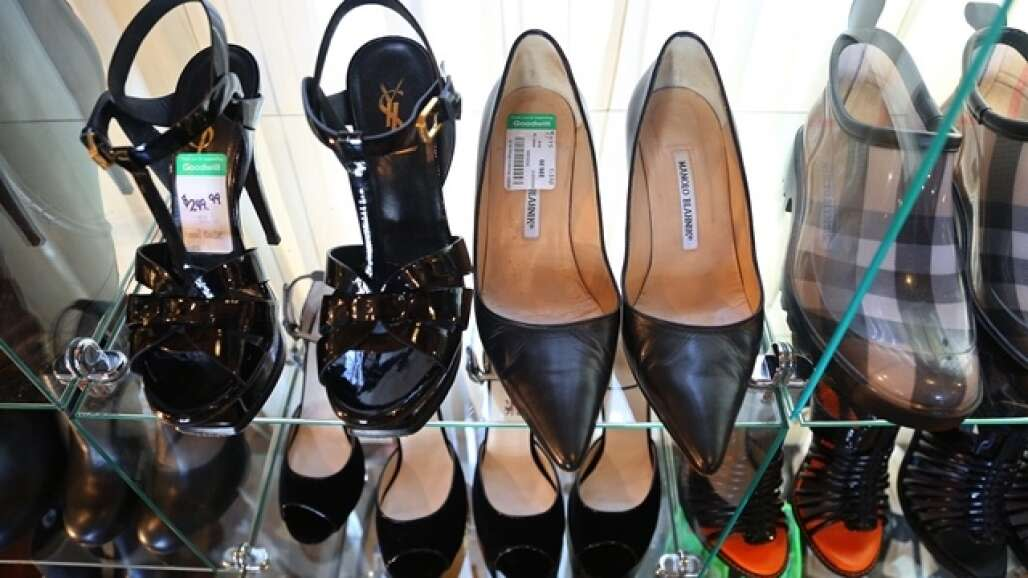 10. Various designer shoes are for sale at the Goodwill's Embassy Boutique in Palm Beach.