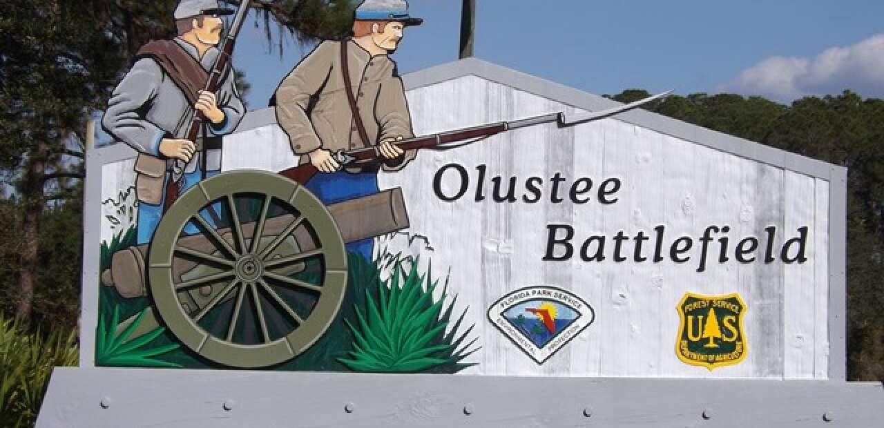 Olustee Battlefield sign